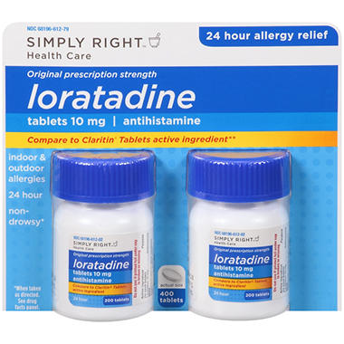 Simply Right™ Loratadine Antihistamine - 2/200 ct.