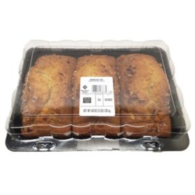 Member's Mark Banana Nut Bread Loaf (3 pk., 16 oz. ea.)