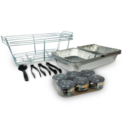 Member's Mark Party Set with Safe Heat Chafing Fuel (24 pc.)