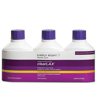 Simply Right ClearLAX (17.9 oz., 3 pk.)