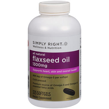Simply Right™ Flaxseed Oil Dietary Supplement - 325 ct.