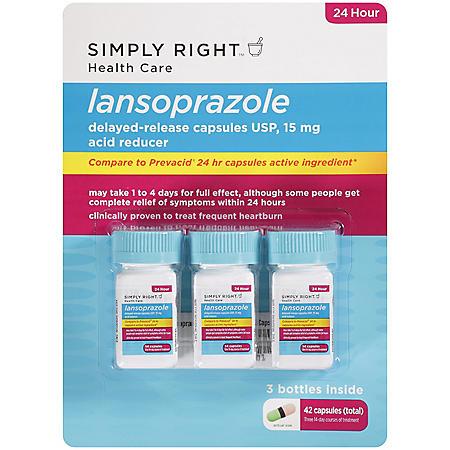 Simply Right Lansoprazole Acid Reducer - 42 ct.