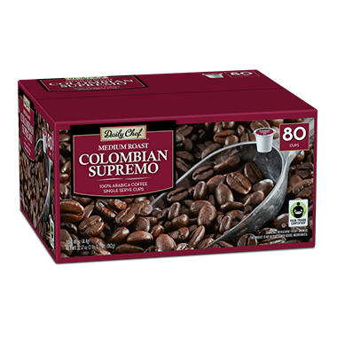 Daily Chef Colombian Supremo Coffee (80 K-Cups)