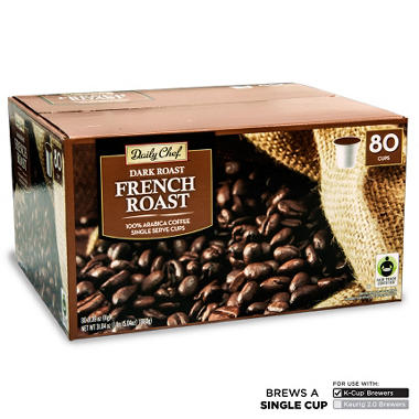 Daily Chef French Roast Coffee Single Serve 80 Ct