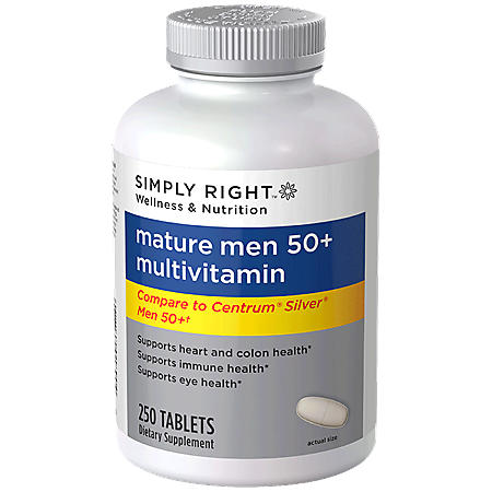 Simply Right Mature Men 50+ Multivitamin - 250 ct.