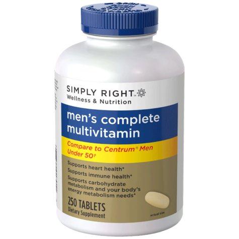 Simply Right Men's Complete Multivitamin - 250 ct.