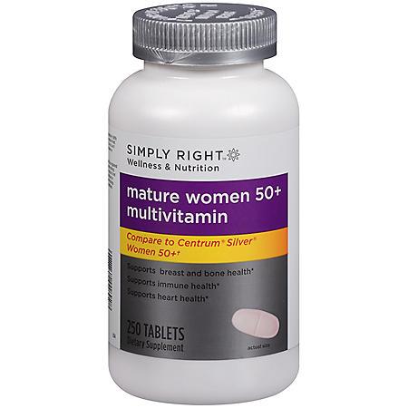 Simply Right™ Mature Women 50+ Multivitamin - 250 ct.