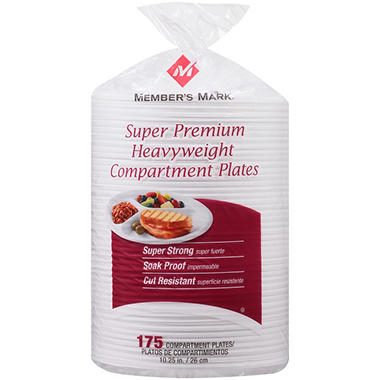 Member's Mark - Super Premium Heavyweight Compartment Plates - 175 ct.