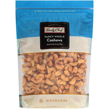 Daily Chef Fancy Whole Cashews - 32 oz. - Sam's Club on planters chocolate covered cashews, planters honey roasted cashews, sam's club cashews, planters cashews with sea salt butter, planters deluxe whole cashews, planters dry roasted cashews,
