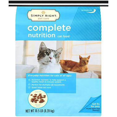 Simply Right Complete Nutrition Cat Food - 18.5 lb.