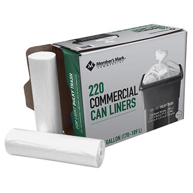 Member S Mark 45 50 Gallon Commercial Trash Bags 220