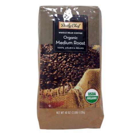 Daily Chef Organic Medium Roast Whole Bean (40 oz.)