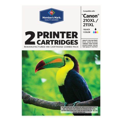 Member's Mark Remanufactured Canon 210XL/211XL Black/Color Combo Pack - 2 Cartridges