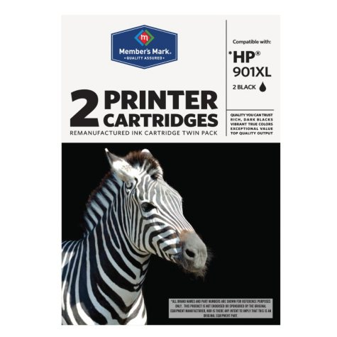 Member's Mark Remanufactured HP 901XL Black Combo Pack - 2 Cartridges