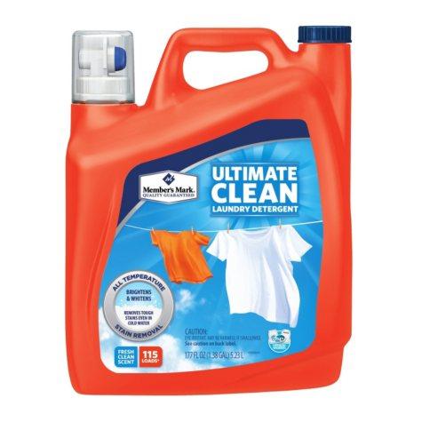Member's Mark Ultimate Clean Liquid Laundry Detergent (177 fl. oz., 115 loads)