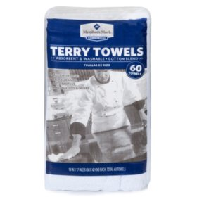 Member's Mark Terry Towels (60 pk.)