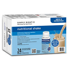 Simply Right Nutritional Vanilla Shake (8 oz., 24 ct.)