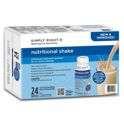 Simply Right Nutritional Vanilla Shake (8 oz., 24 ct.)