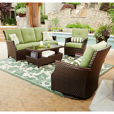 Member S Mark Carnaby Deep Seating 4 Piece Set With