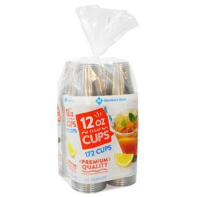 Member's Mark Clear 12 oz. Plastic Cups (172ct.)