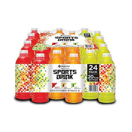 Member's Mark Sport Drink Variety Pack (20 oz., 24 pk.)