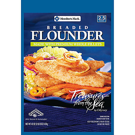 Member's Mark Breaded Flounder by Treasures of the Sea (40 oz.)