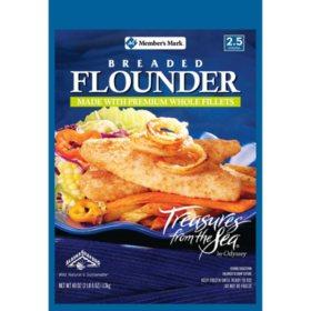 Member's Mark Breaded Flounder by Treasures of the Sea (40 oz.)