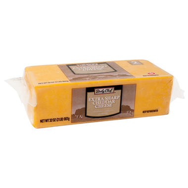 Daily Chef Extra Sharp Cheddar Cheese Chunk (32 oz.)