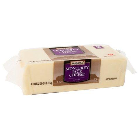 Daily Chef Monterey Jack Cheese Chunk (32 oz.)
