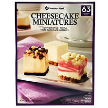 Member's Mark Mini Cheesecake Variety Pack (63 ct.)