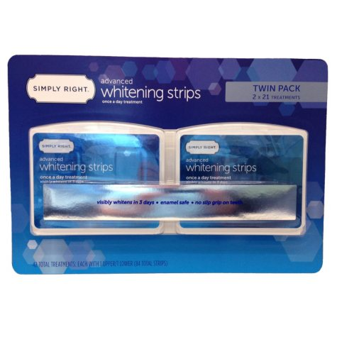 Simply Right Advanced Whitening Strips (42 Treatments)