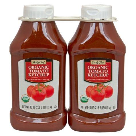 Daily Chef Organic Tomato Ketchup (40 oz. bottle, 2 pk.)