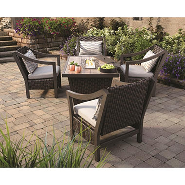 Santa Monica 5 Piece Fire Pit Chat Set