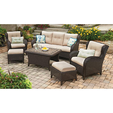 Member S Mark Heritage 6 Piece Deep Seating Set With