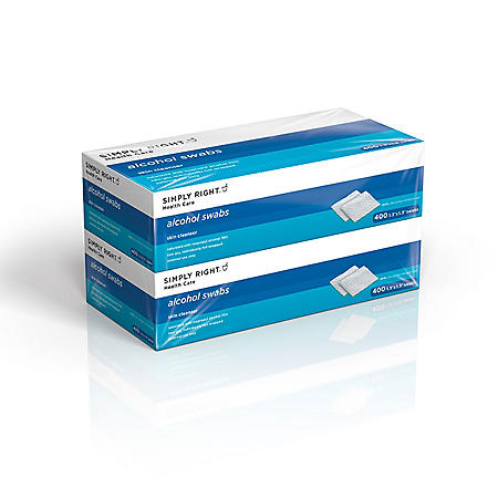 Simply Right Alcohol Swabs (400 ct., 2 pk.)