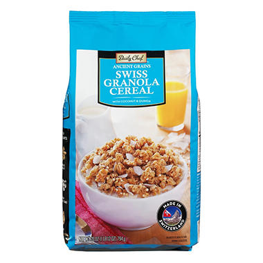 Daily Chef Ancient Grains Swiss Granola Cereal with Coconut & Quinoa (28 oz.)