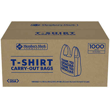 Member S Mark T Shirt Carry Out Bags 1 000