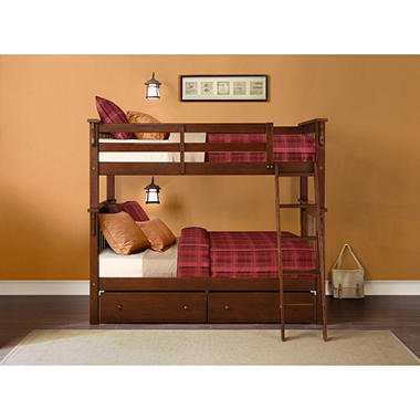 Whitman Twin Bunk Bed With Storage Drawers Sam S Club