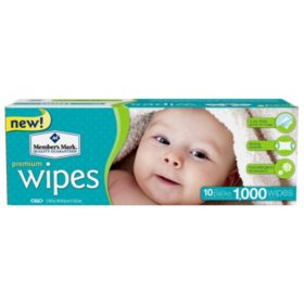 Member's Mark Premium Baby Wipes, 1,000 ct. (Choose Unscented or Scented)