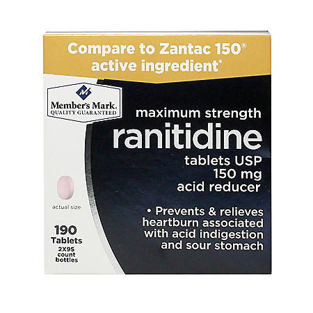 Member's Mark 150 mg Ranitidine Acid Reducer (190 ct.)