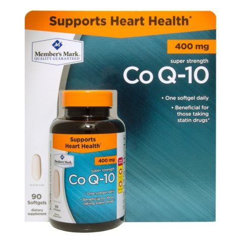 Member's Mark Co Q-10 400mg Dietary Supplement (90 ct.)