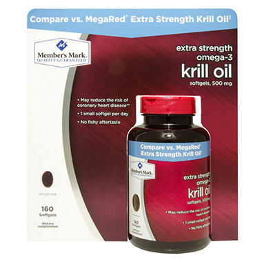 Member's Mark Extra Strength Omega-3 Krill Oil Dietary Supplement (160 ct.)