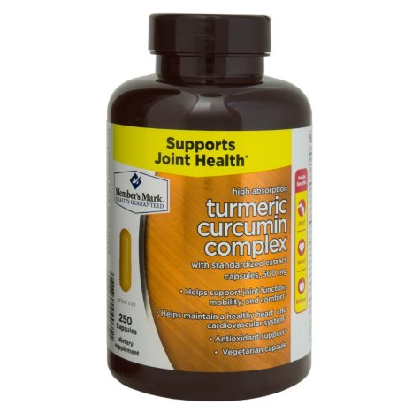 Member's Mark 500mg Turmeric Curcumin Complex Dietary Supplement (250 ct.)
