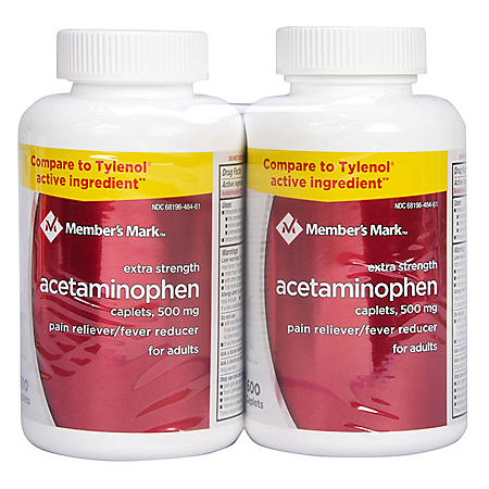 Member's Mark 500mg Extra Strength Acetaminophen (600 ct., 2 pk.)