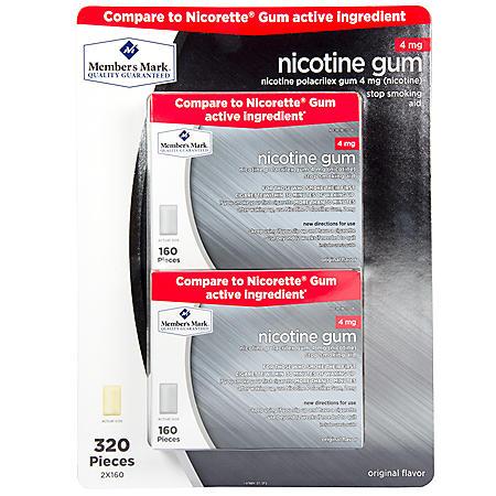 Member's Mark 4 mg Nicotine Gum, Original (320 ct.)