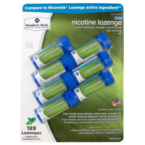 Members Mark 2mg Nicotine Lozenges, Mint (189 ct.)