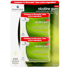 Member's Mark 4 mg Nicotine Gum, Cool Mint (220 ct.)