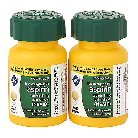 Member's Mark 81 mg Low Strength Aspirin (730 ct.)