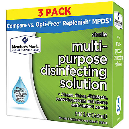 Member's Mark Multi-Purpose Disinfecting Contact Solution (3 pk.)