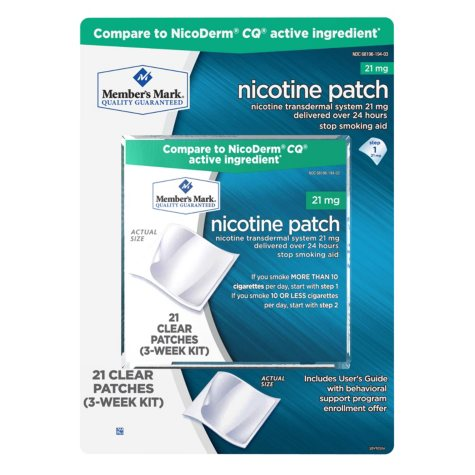 Member's Mark 21mg Nicotine Patch, Step 1 (21 ct.)